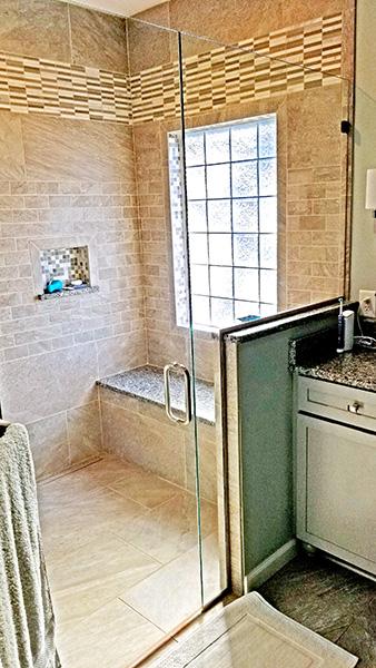 Bathroom with walkin shower