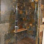 Corner walk-in shower