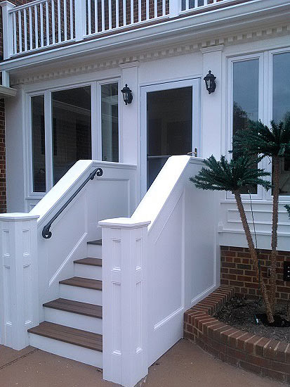 front stairs and entryway