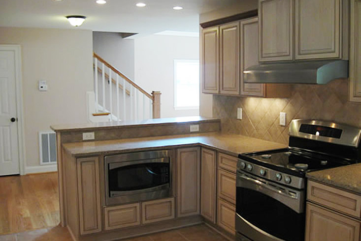 light colored kitchen