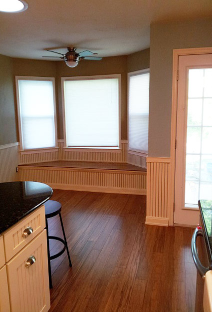 large bay window with bench seating