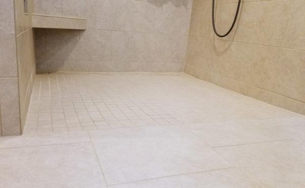 Roll in Shower Threshold