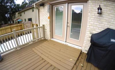 Composite Deck with Pella Door