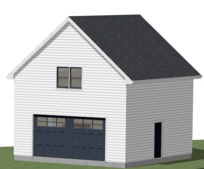 Garage Addition 3D Drawing