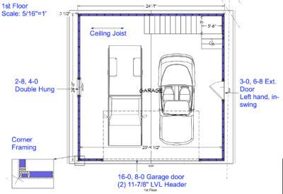 Garage addition 1st Floor Drawing